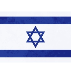True proportions israel flag with texture vector