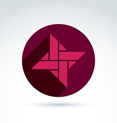 Abstract symbol graphic design element icon vector