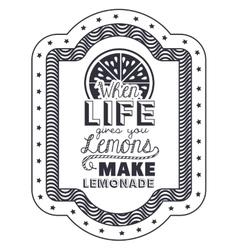 Attitude phrase about life inside frame design vector