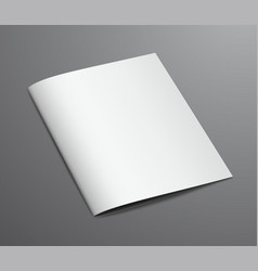 blank white closed brochure magazine vector image