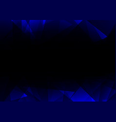 blue facet side abstract dark background vector image vector image