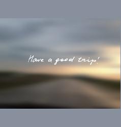 Blurred road vector