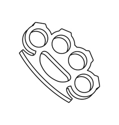 Brass knuckles icon outline style vector