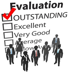 Business team best human resources evaluation vector