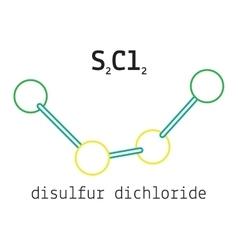 Cl2S2 disulfur dichloride molecule vector image vector image