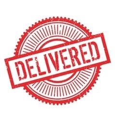 Delivered stamp rubber grunge vector