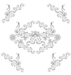 fairy wedding birds vector image vector image