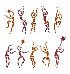Figures of African dancers vector image