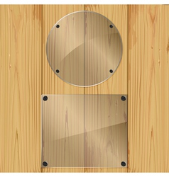 glass on a planks vector image vector image