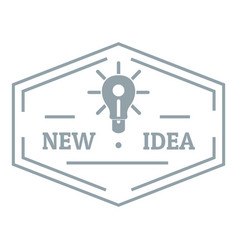 idea logo simple gray style vector image