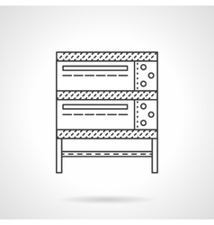 Industrial oven thin line icon vector image vector image