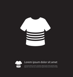 Isolated t-shirt icon casual element can vector