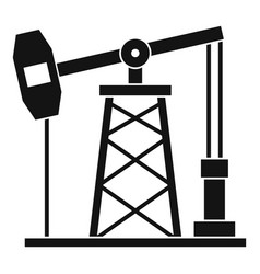 Oil derrick icon simple style vector