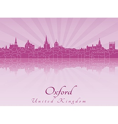 Oxford skyline in purple radiant orchid vector image vector image