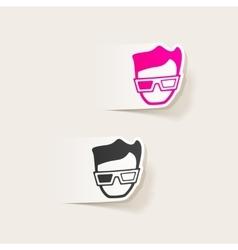 Realistic design element 3d glasses vector