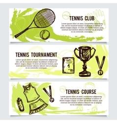 Set for tennis school tournament equipment vector