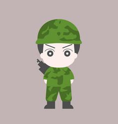 soldier cartoon flat design vector image
