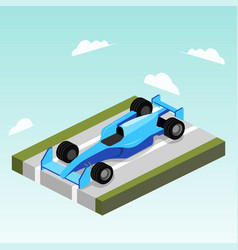 sport car on road isometric vector image