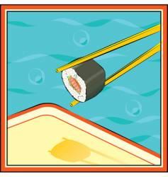 Sushi-roll vector