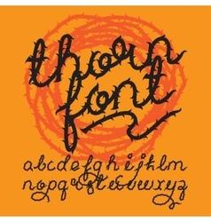 Thorn alphabet font vector