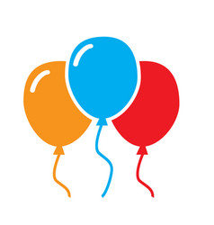 Three balloon icon on white background balloon vector