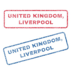 United kingdom liverpool textile stamps vector
