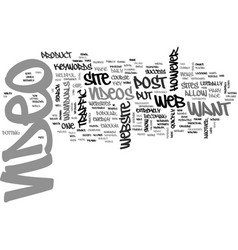 Where to post your web video text word cloud vector
