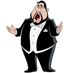 Male opera singer vector