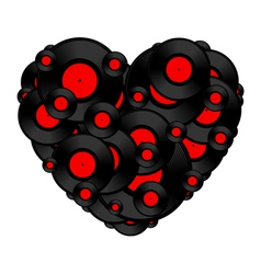 Vinyl record heart vector