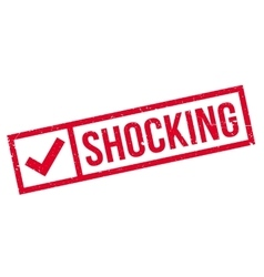 Shocking rubber stamp vector