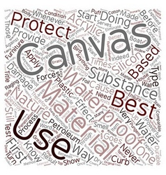 How to waterproof a canvas text background vector