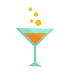 Glass with champagne isolated martini cocktail vector