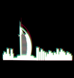 Isolated cityscape of dubai vector