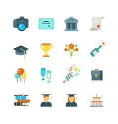 Graduate student party college graduation vector