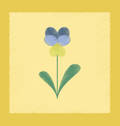Flat shading style plant viola vector