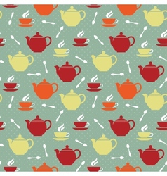 Teapots and teacups vector