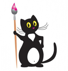 cat the painter vector image