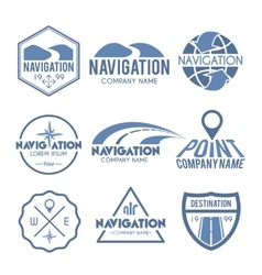 Navigation label grey vector