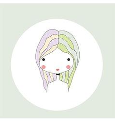 Horoscope Gemini sign girl head vector image