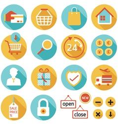 E commerce online shop shopping icons set vector
