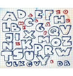 alphabet doodle vector image