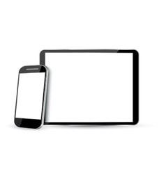 Computer screen tablet pc and mobile phone vector