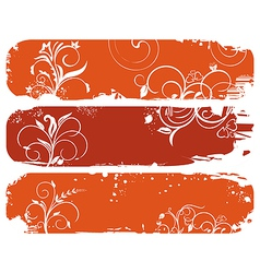 set of horizontal floral autumn banners - vector image