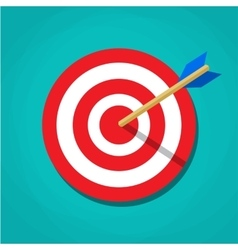 Red white circle darts target vector