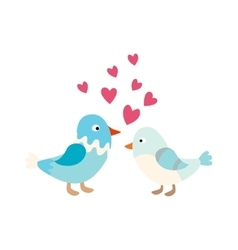 Couple of cute love birds nature sweet comic vector