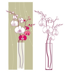 Orchids2 vector image
