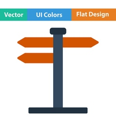 Flat design icon of pointer stand vector