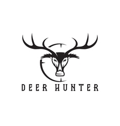 Deer head with target design template vector