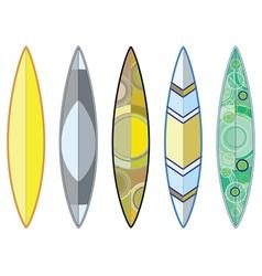 Surfing boards set2 vector