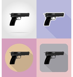 Weapon flat icons 15 vector